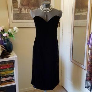 NWT 80's Vintage Velvet Dress - Eugene Alexander
